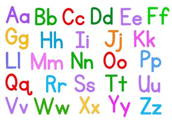 ABC alphabet double sided place mat by Aurorascopic | TpT