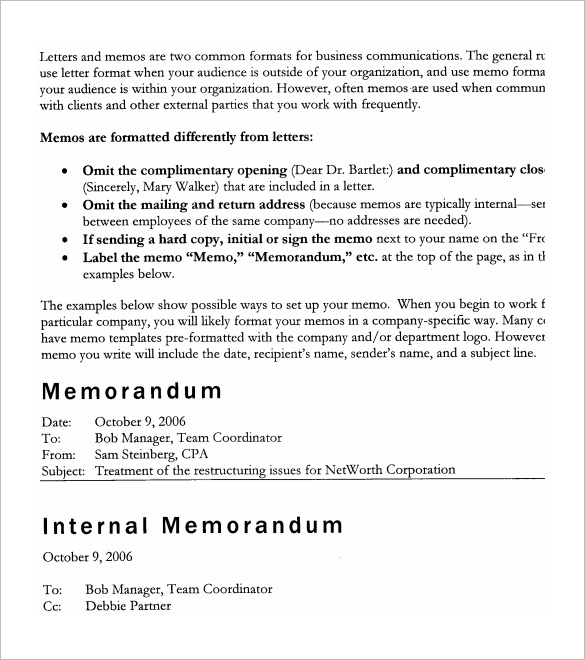 6+ Accounting Memo Templates – Free Word, PDF Documents Download