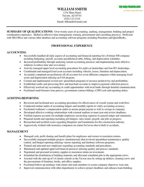accounting resume objective samples Dorit.mercatodos.co