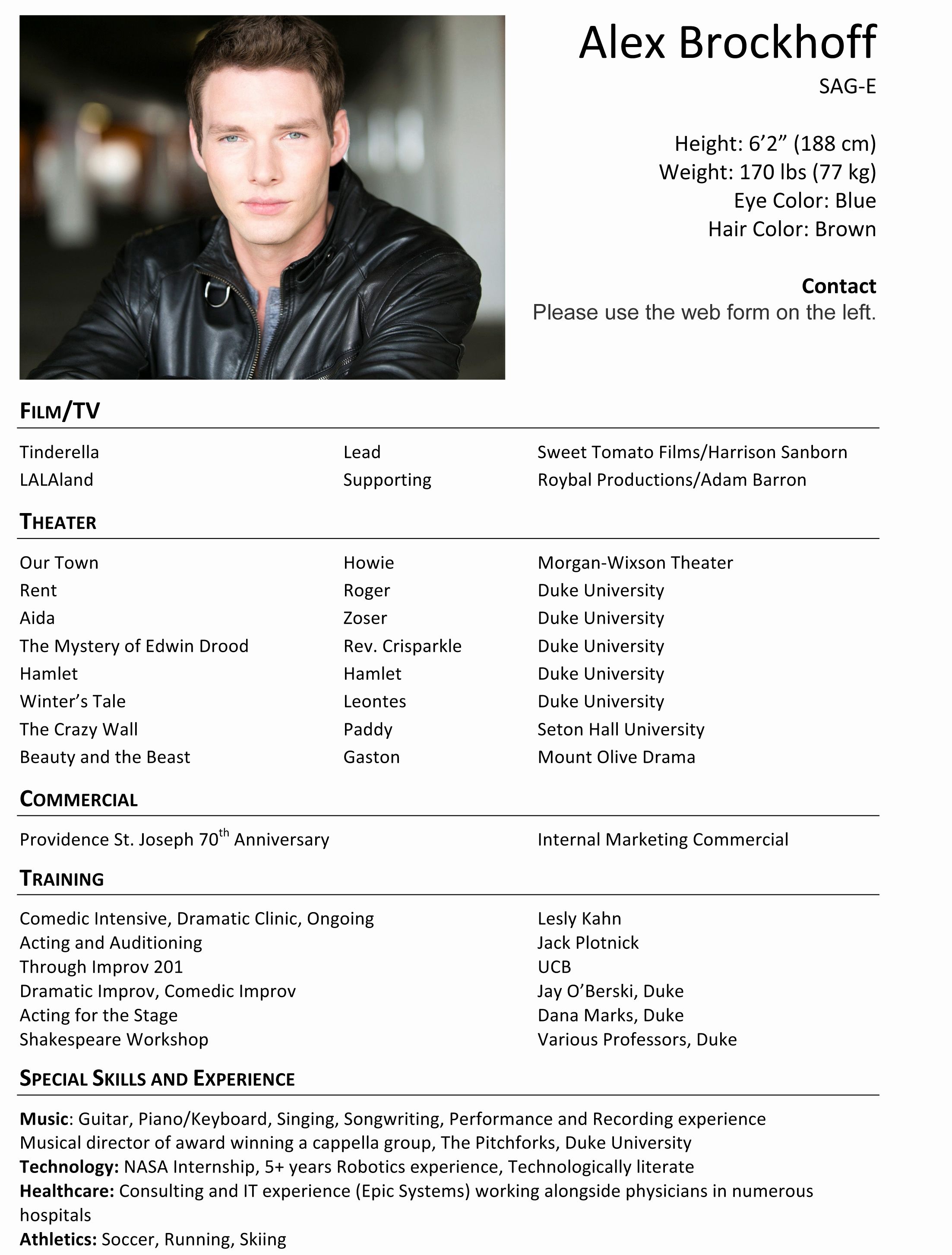 Acting Resume Template essayscope.Com