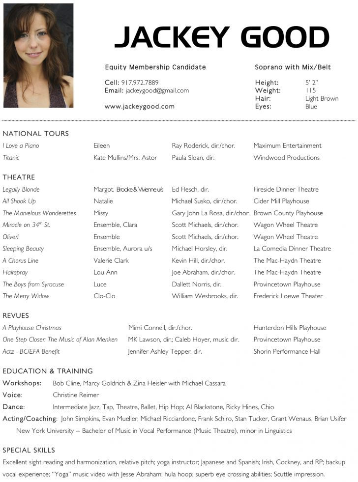Acting Resume Ppyr.us