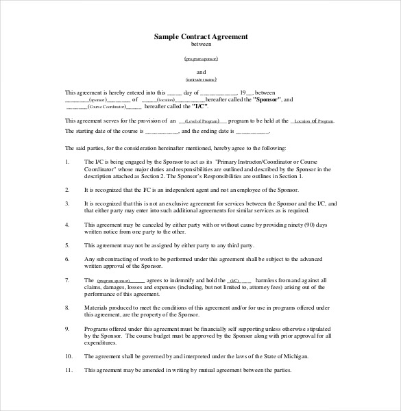 contract agreement template contract agreement templates emsec