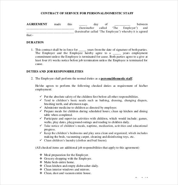 contract of agreement template 18 contract agreement templates