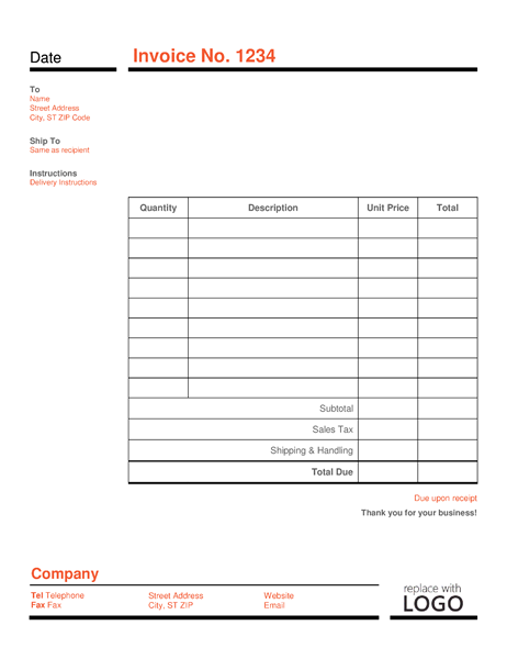 Basic Invoice Template Mobile Discoveries