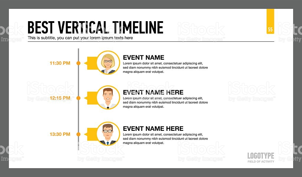 Best Vertical Timeline Template 2 Stock Vector Art & More Images