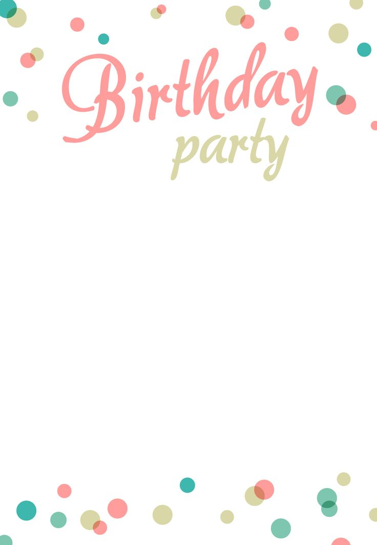 Invitation Templates Birthday Birthday Party Invitations Template