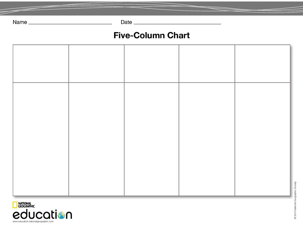 12 Images of Blank 6 Column Chart Template | leseriail.com