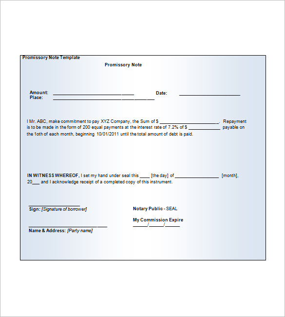 blank promissory note form free download Onwe.bioinnovate.co