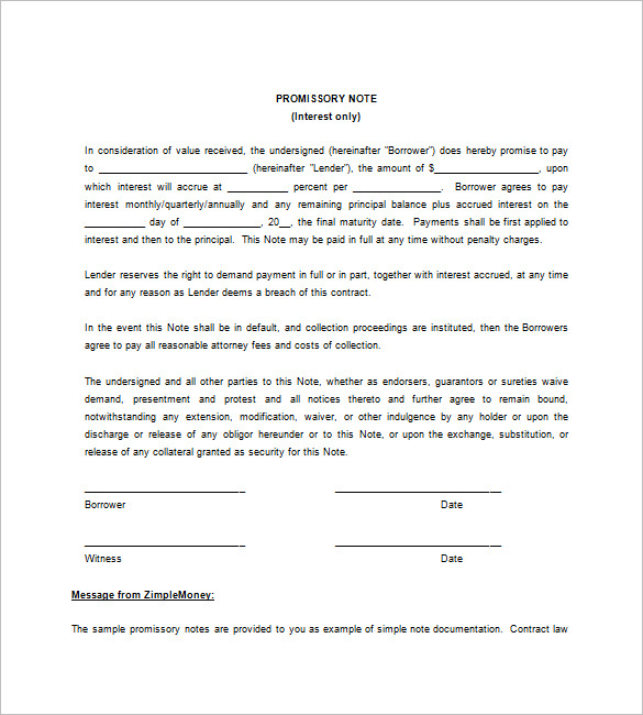 Promissory Note Format Pdf Fill Online, Printable, Fillable