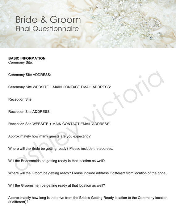 Bridal shower game printable how well do you know the bride