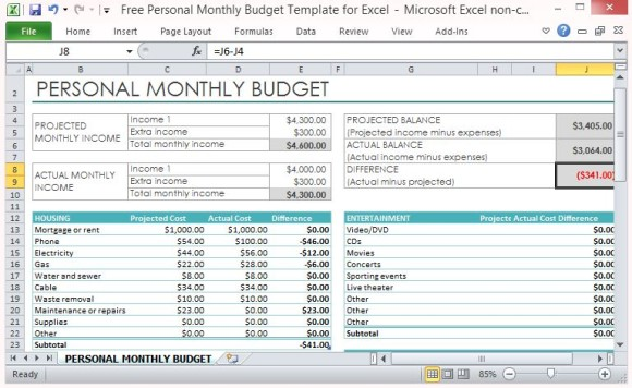 home budget excel template Jose.mulinohouse.co