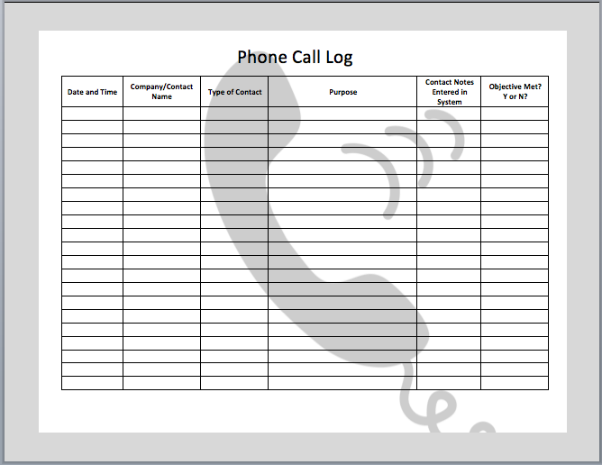 call log template for excel Ozil.almanoof.co