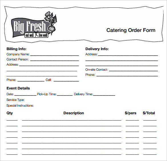 Fillable Online Eurest Dining Services Catering Request Form Fax