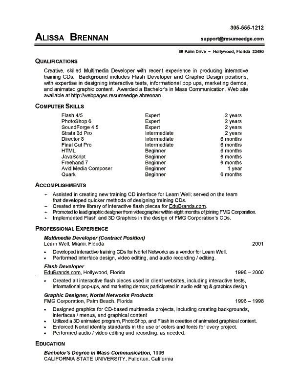 7 Resume Basic Computer Skills Examples | Sample Resumes | Sample