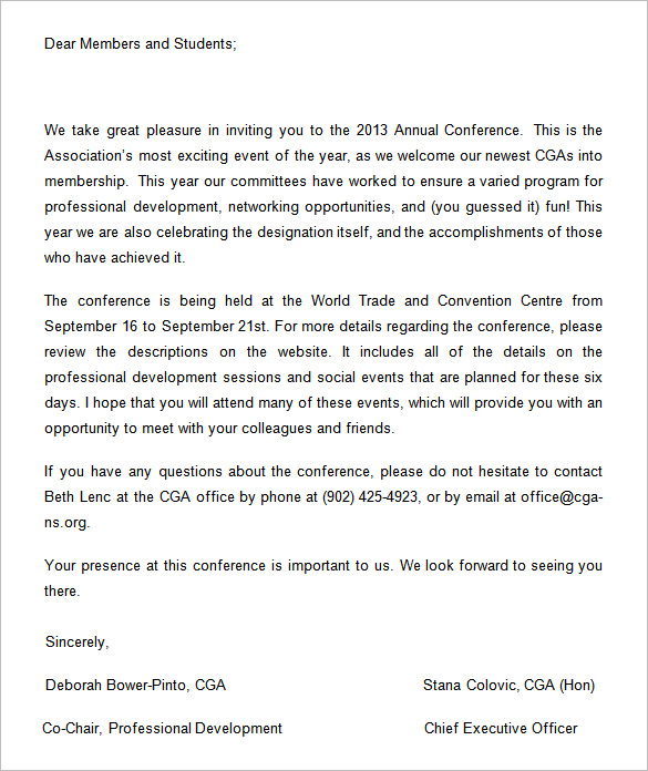 13+ Conference Invitation Templates Free Word Documents Download