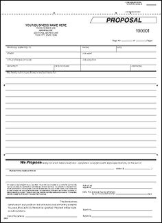 Printable Blank Bid Proposal Forms | Construction Proposal Bid