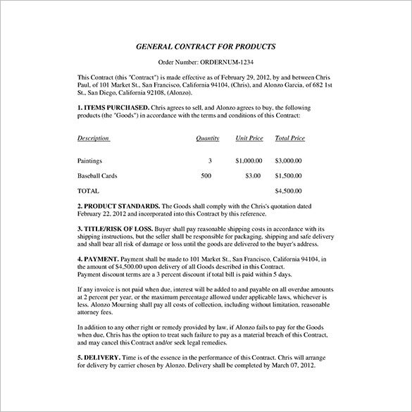 Business Contract Template 17 Free Word Pdf Documents Download