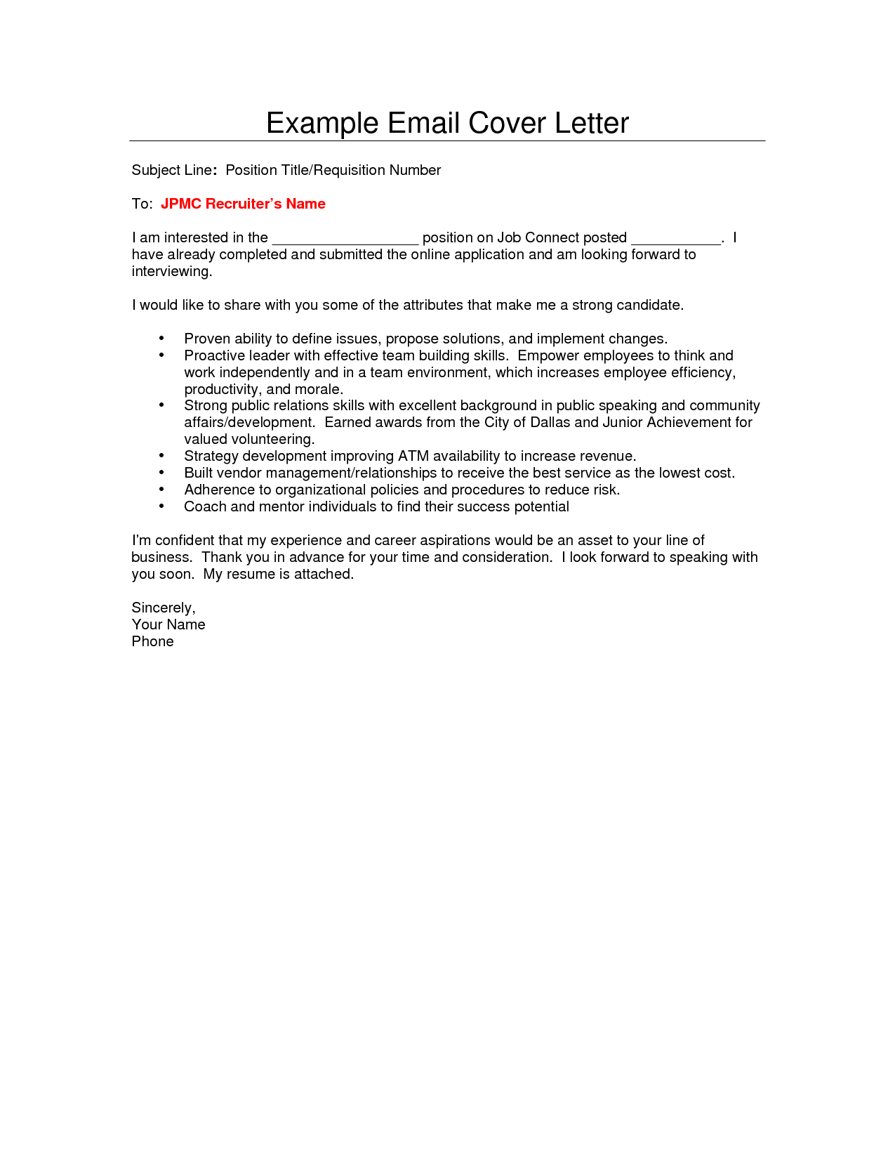 Cover Letter Emails Examples Fresh Email Cover Letter Sample