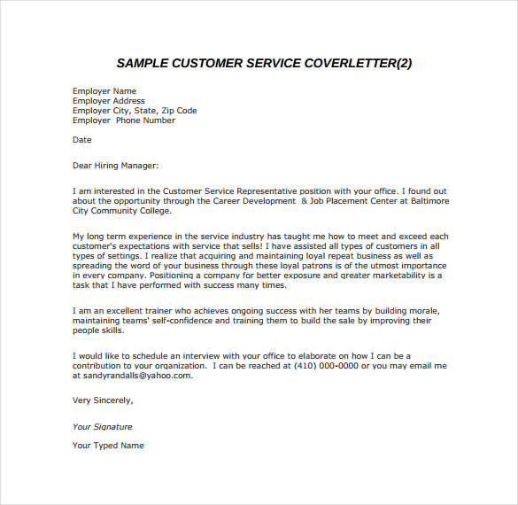 9+ Email Cover Letter Templates – Free Sample, Example, Format