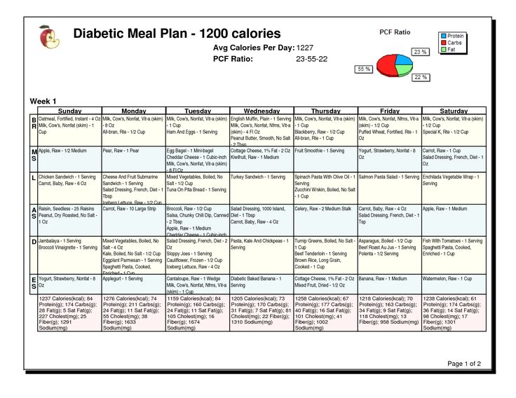 sample diabetic meal plans Dorit.mercatodos.co