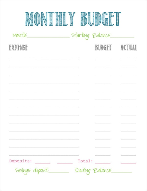 easy budget worksheet Dorit.mercatodos.co