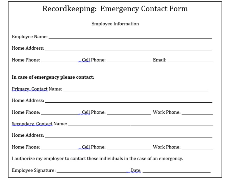 Why Your Company Needs to Keep Emergency Contact Information on File