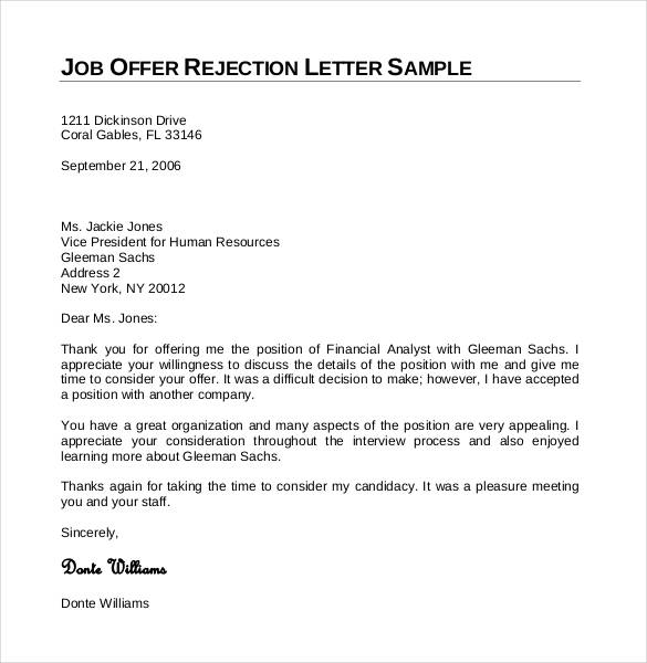 27+ Rejection Letters Template | HR Templates | Free & Premium