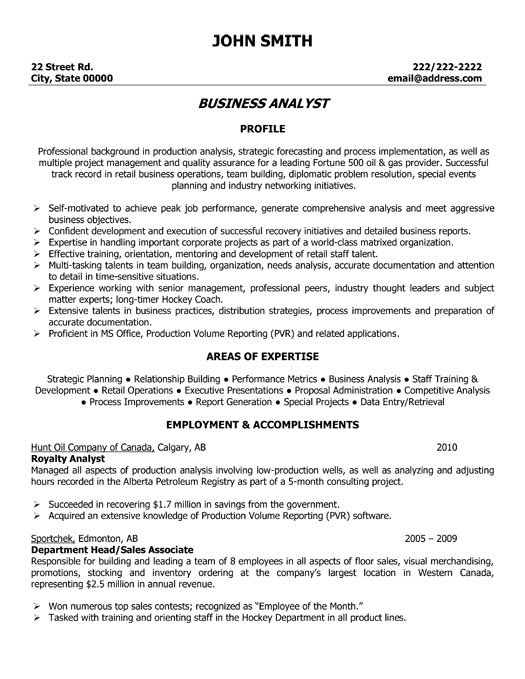 Entry Level Business Analyst Resume essayscope.Com