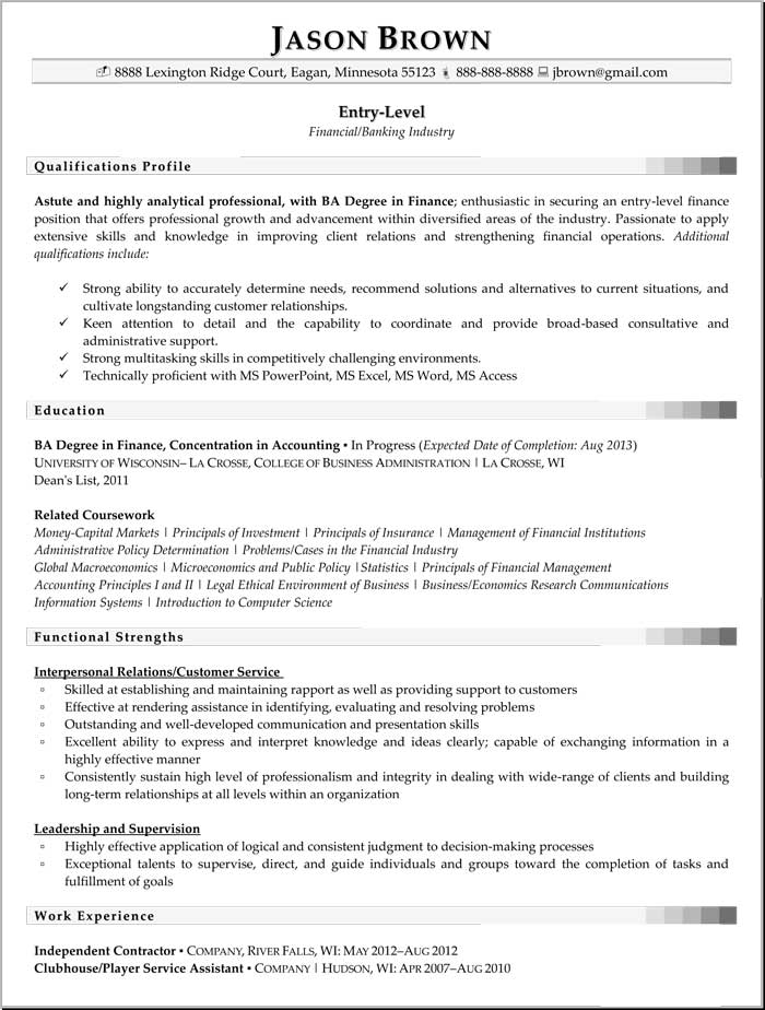 Entry Level Business Analyst Resume By Jason Brown Example of