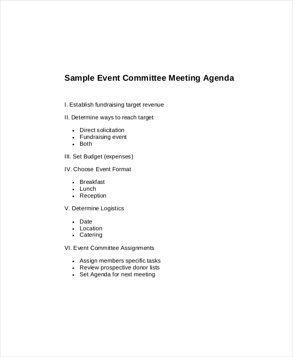 15+ Committee Meeting Agenda Templates – Free Sample, Example
