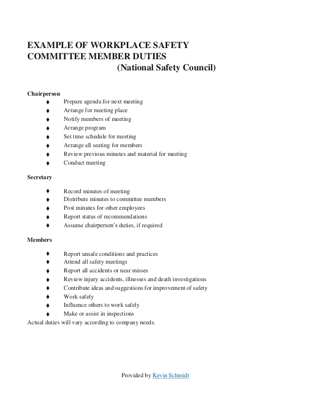 Example of an agenda and minutes committee meeting 2 competent