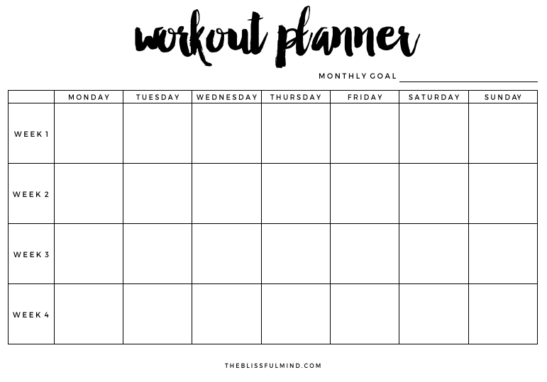 workout schedule planner Roho.4senses.co