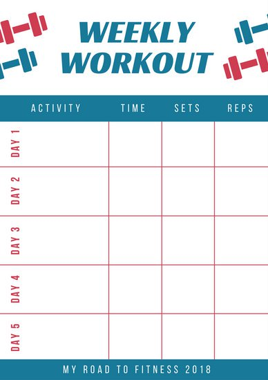 exercise schedule planner mobile discoveries