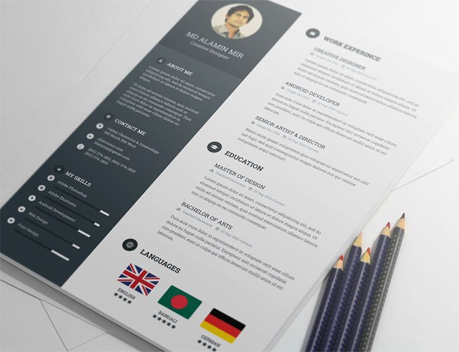 best free modern resume template Yeni.mescale.co