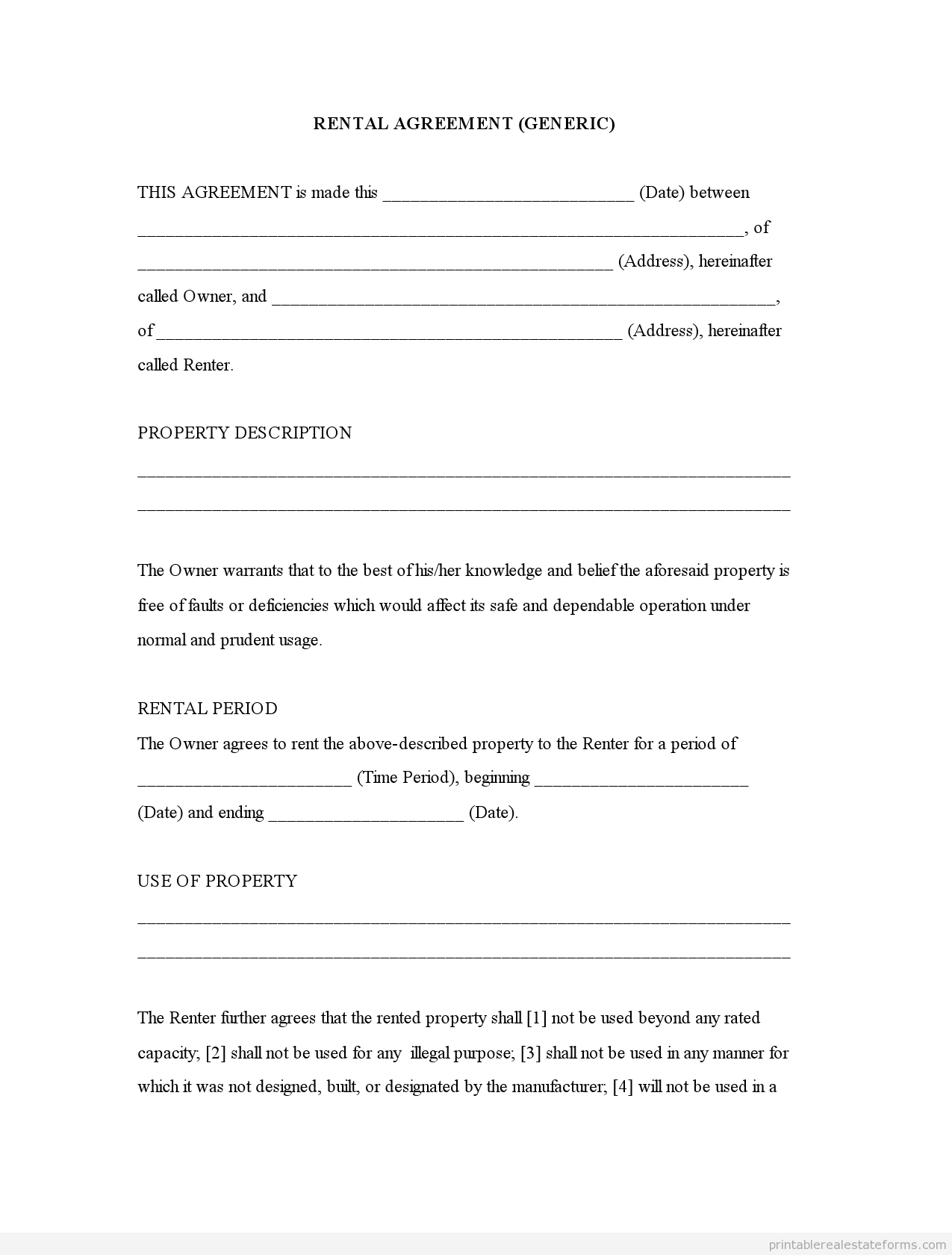 rent a room contract template free Roho.4senses.co