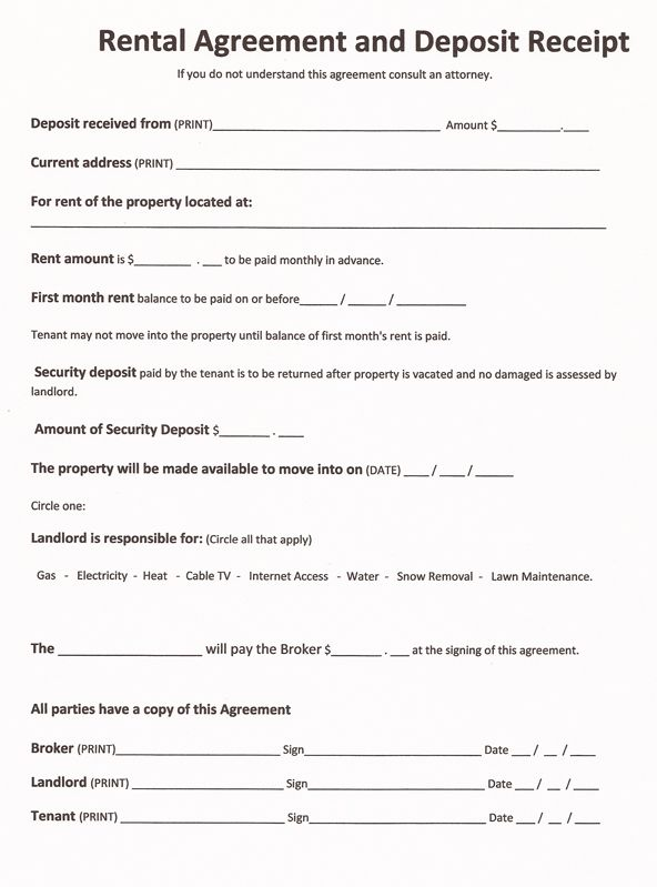 free printable rental agreement template free printable lease