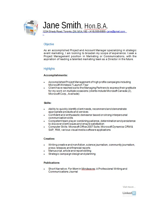 resume example free Onwe.bioinnovate.co