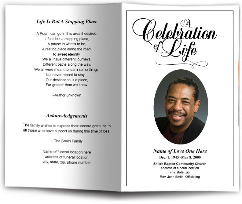 funeral obituary templates Dorit.mercatodos.co