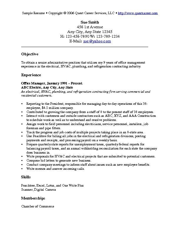 General Objectives For Resumes outathyme.com
