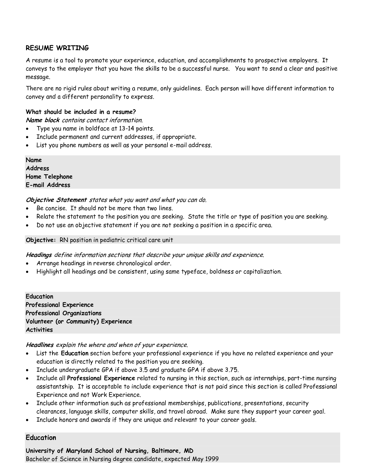 General Resume Objectives essayscope.Com