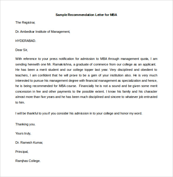 Examples Of Letter Of Recommendation Templatecaptureprojects.