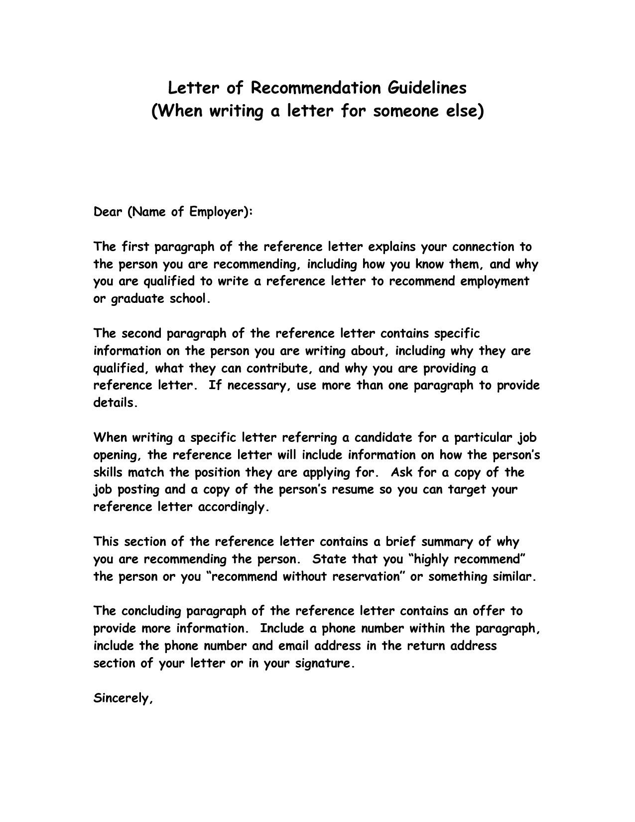 How To Write A Reference Letter | Letter | letter example