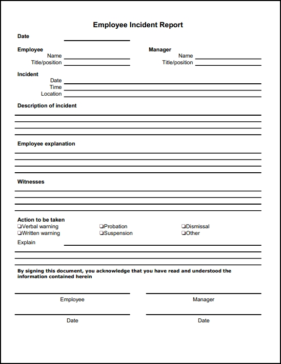 incident report template microsoft 13 incident report templates