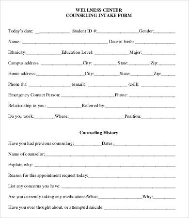 Preschool Intake Form Fill Online, Printable, Fillable, Blank