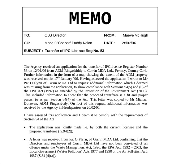 Internal Memo Templates 15 Free Word Pdf Documents Download Sample