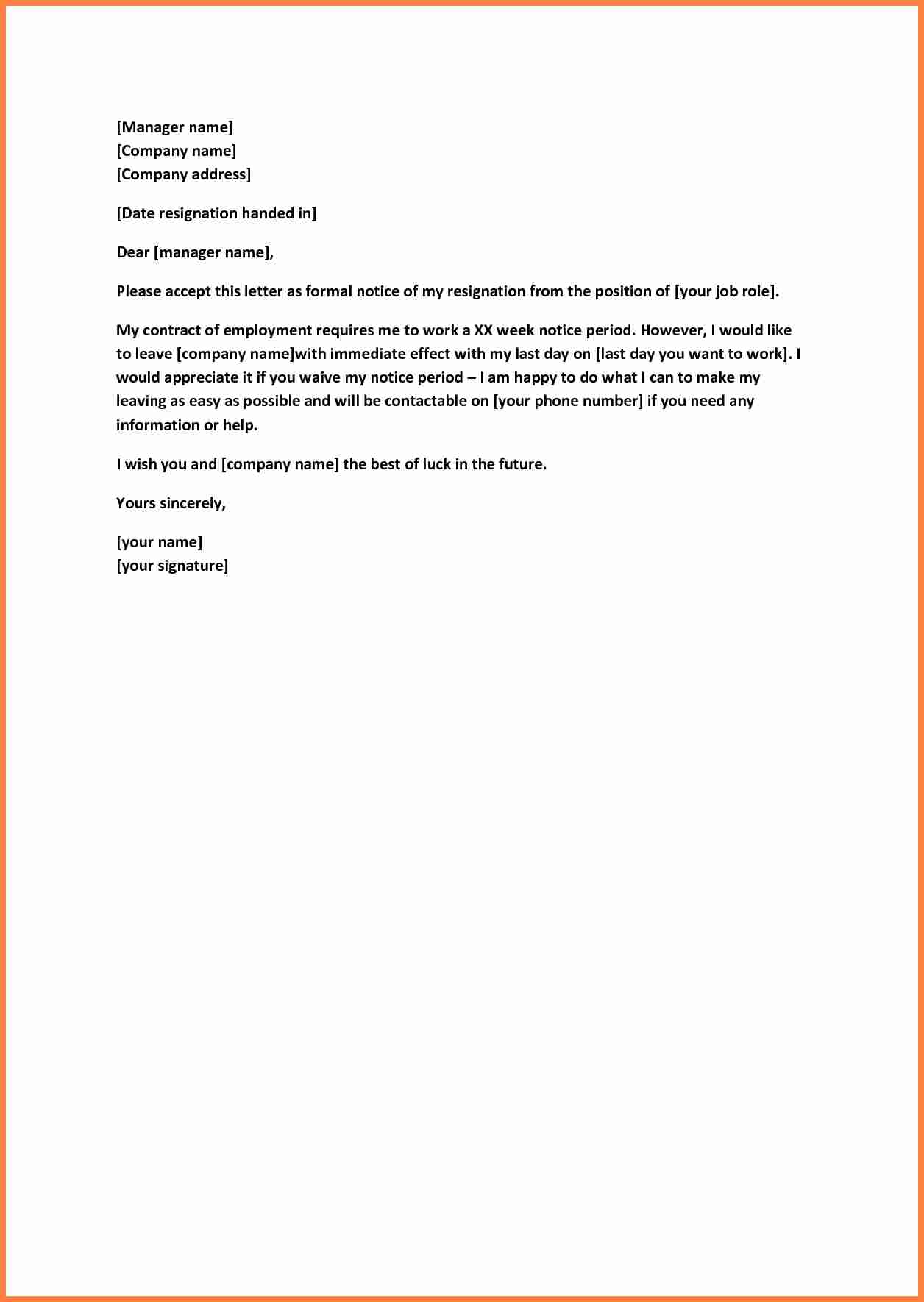 8+ sample of quitting job notice | Notice Letter