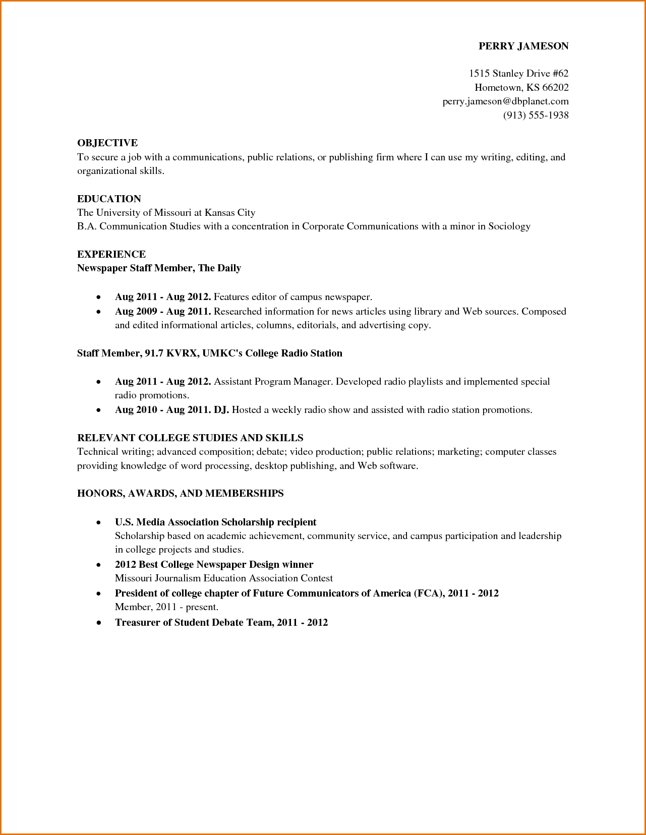 college student job resumes Yeni.mescale.co