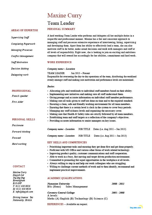 Resume. Leadership Resume Examples Adout Resume Sample
