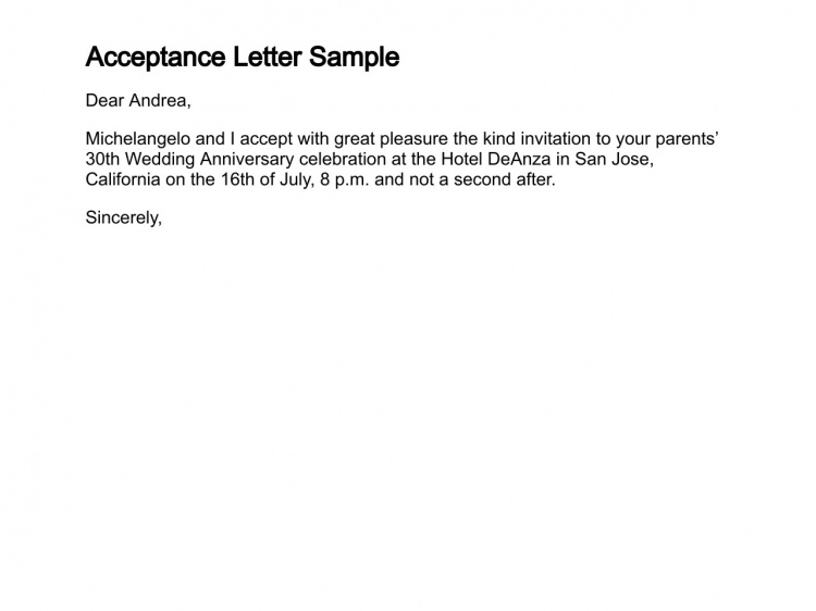 13+ Acceptance Letters Free Sample, Example, Format | Free