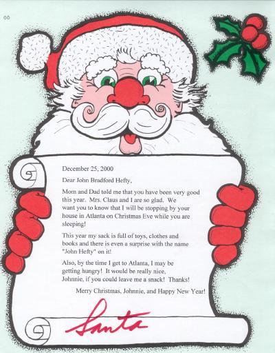 Letter From Santa Claus Personalized Letters From Santa Claus